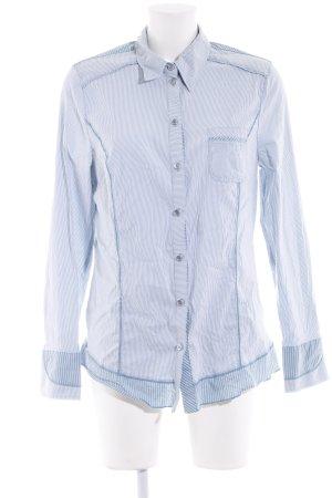 Bonita Hemd-Bluse wollweiß-blassblau Streifenmuster Casual-Look