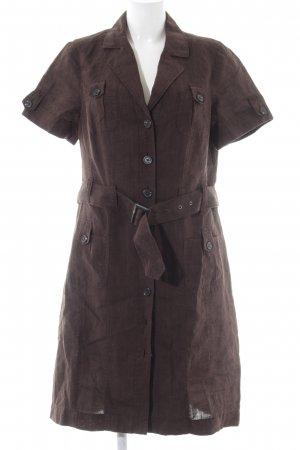 Bonita Shirtwaist dress brown casual look