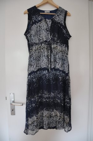 Bonita hübsches Sommerkleid blau weiß beige Größe 46