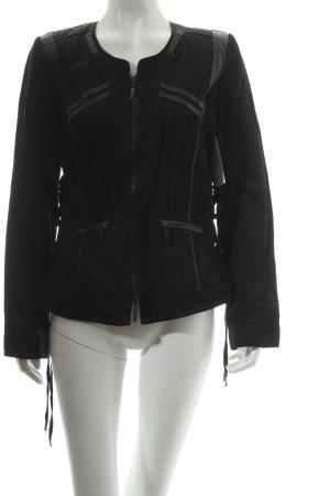 Bonita Jacke schwarz Materialmix-Look
