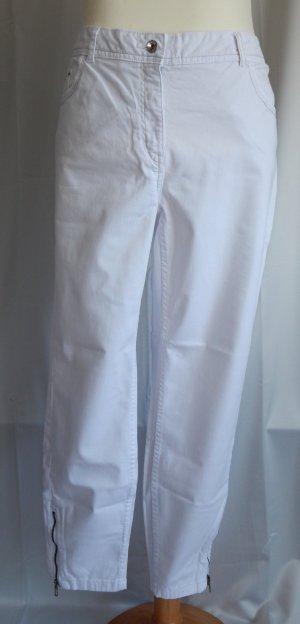 Bonita,Jeans-Hose,weiß,enger werdendes Bein,Reißverschluß am Saum,Gr.48