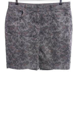Bonita Jupe en jeans gris clair-brun imprimé allover style décontracté