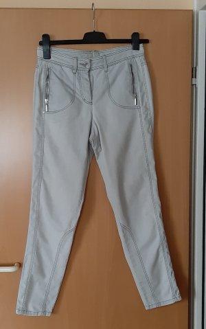 Bonita Pantalone a sigaretta grigio chiaro-argento
