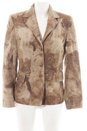 Bonita Kurz-Blazer bronzefarben-creme abstraktes Muster Business-Look