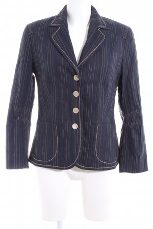 Bonita Kurz-Blazer blau-creme Streifenmuster Business-Look