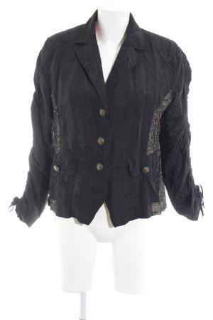 Bonita Kurz-Blazer schwarz-beige Casual-Look