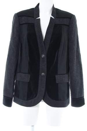 Bonita Kurz-Blazer schwarz Materialmix-Look