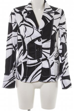 Bonita Kurz-Blazer weiß-schwarz abstraktes Muster Elegant