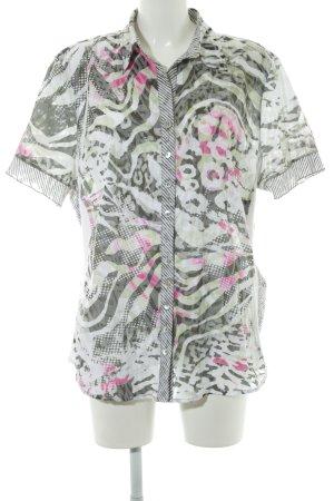 Bonita Short Sleeved Blouse abstract pattern casual look