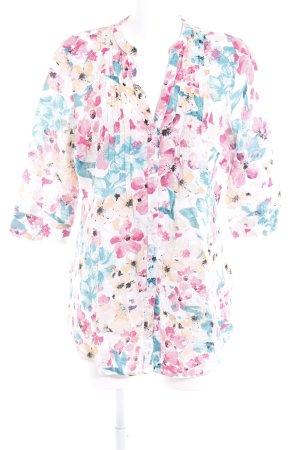 Bonita Kurzarm-Bluse Blumenmuster Casual-Look