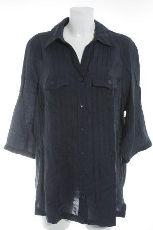 Bonita Kurzarm-Bluse dunkelblau Casual-Look