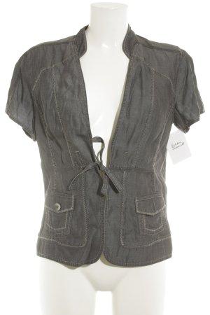 Bonita Kurzarm-Bluse grau Casual-Look