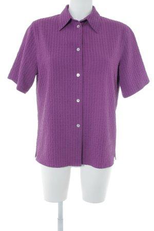 Bonita Kurzarm-Bluse purpur schlichter Stil