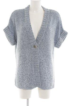 Bonita Short Sleeve Knitted Jacket blue-white flecked casual look