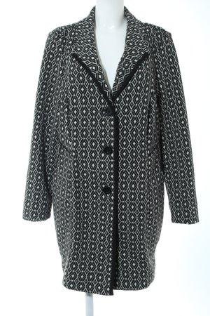 Bonita Cappotto corto nero-bianco stampa integrale stile casual