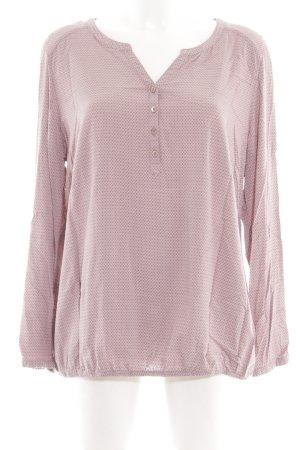 Bonita Langarm-Bluse pink Allover-Druck Casual-Look