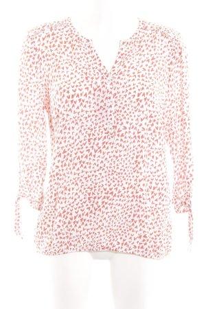 Bonita Langarm-Bluse weiß-rot Allover-Druck Casual-Look