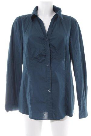 Bonita Langarm-Bluse petrol schlichter Stil