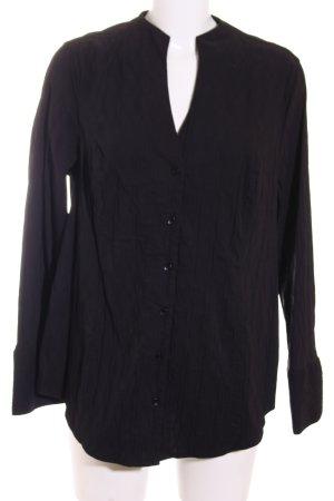 Bonita Langarm-Bluse schwarz Struktur-Optik