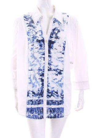 Bonita Langarm-Bluse weiß-blau Casual-Look