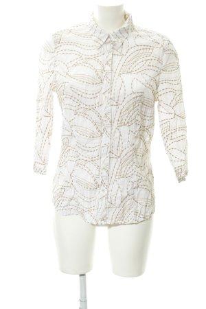 Bonita Langarmhemd weiß-beige Casual-Look