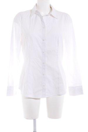 Bonita Langarmhemd weiß klassischer Stil