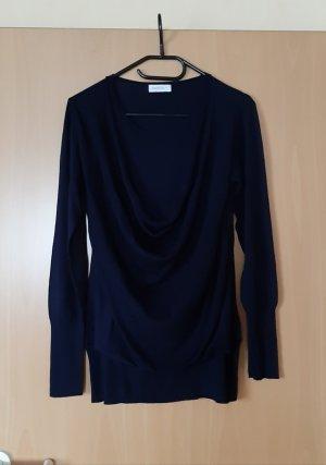 Bonita Long Sweater dark blue mixture fibre