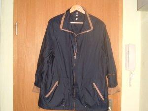 Bonita, leichte Damen Jacke, Übergangsjacke - grau mit braun-Gr.L