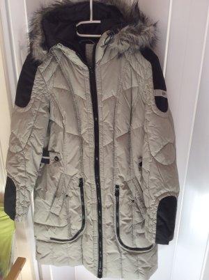 Bonita Manteau à capuche argenté-noir polyester
