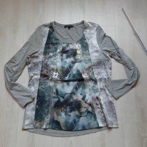 Bonita Camisa larga gris-verde grisáceo