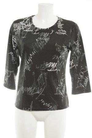Bonita Print-Shirt Punktemuster Casual-Look