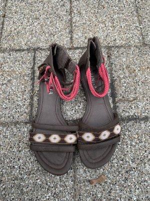 Bonita Sandalias romanas marrón-rosa