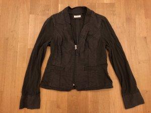 BONITA schöne leichte Damen Jacke Gr. 36 braun Leinen/Baumwolle