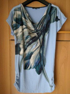 Bonita Shirt hellblau Wasserfall Kragen