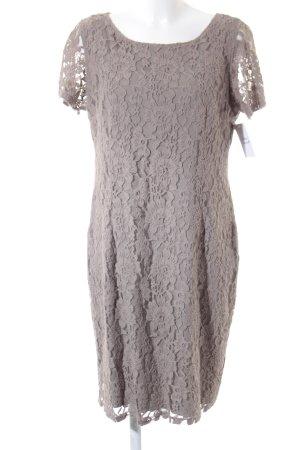 Bonita Spitzenkleid graubraun florales Muster Romantik-Look