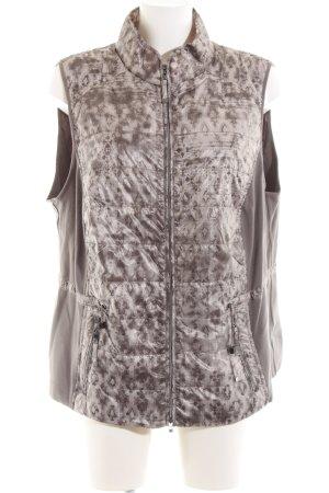 Bonita Steppweste braun-wollweiß abstraktes Muster Casual-Look