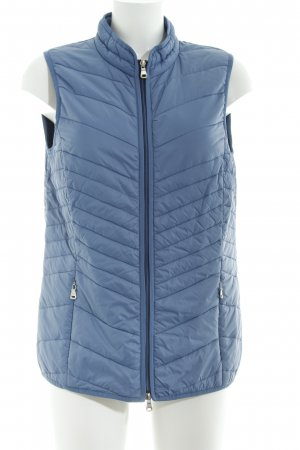 Bonita Quilted Gilet steel blue simple style