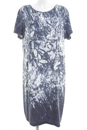 Bonita Stretchkleid dunkelblau-weiß grafisches Muster Casual-Look