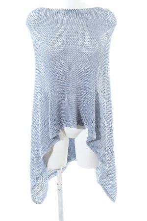 Bonita Knitted Poncho blue casual look