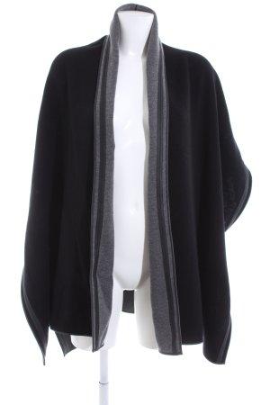 Bonita Gilet tricoté noir-gris clair style décontracté