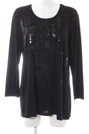 Bonita Sweatshirt schwarz Schriftzug gedruckt Casual-Look