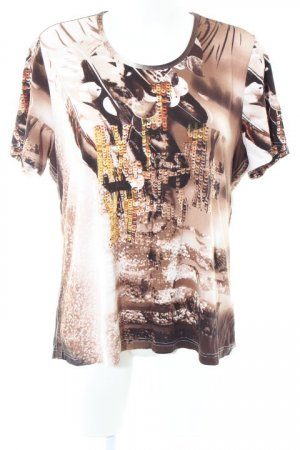 Bonita T-Shirt braun-weiß Allover-Druck extravaganter Stil