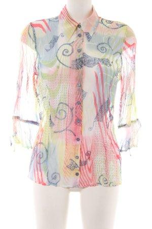 Bonita Transparenz-Bluse Allover-Druck Elegant