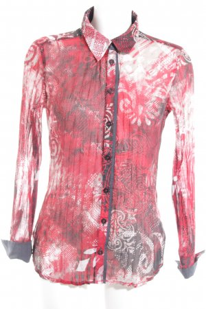 Bonita Transparent Blouse abstract pattern casual look