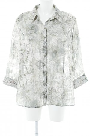 Bonita Transparenz-Bluse florales Muster Transparenz-Optik