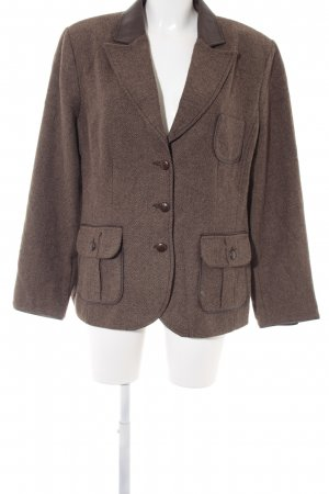 Bonita Wool Blazer herringbone pattern casual look