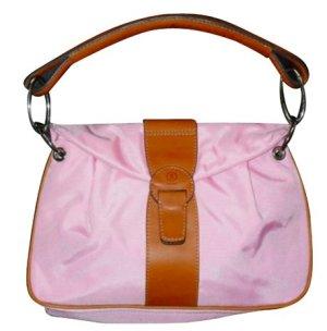 Bonner Handtasche Canvas rosa mit Echtleder top