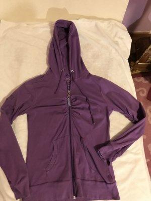 Bonnie & Clyde leichte taillierte Jacke zum Überziehen in lila mit silbernem Muster Luxus