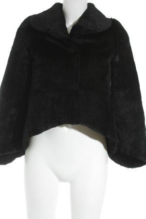 Bonnie Felljacke schwarz extravaganter Stil