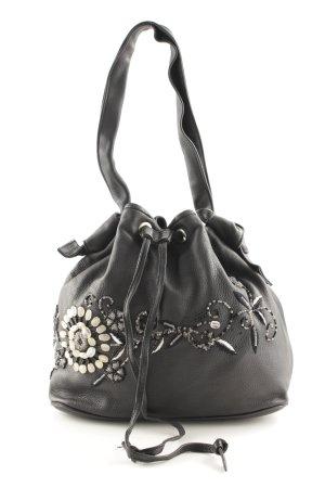 Bonnie Handtasche schwarz-silberfarben schlichter Stil